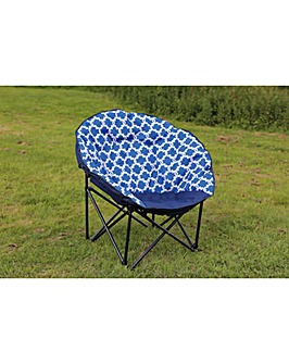 Large moon chair in blue chain