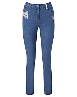 Joe Browns Embroidered Slim Leg Jeans