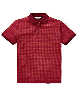 W&B Wine Printed Polo R