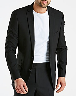 W&B London Black Stretch Suit Jacket R