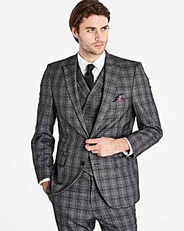 W&B London Charc Check Suit Jacket R