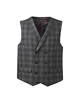 W&B London Charc Check Waistcoat R