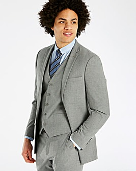 W&B London Grey Stretch Suit Jacket R