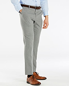 W&B London Grey Stretch Trousers