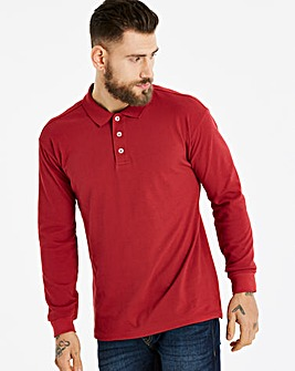 Capsule Burgundy Long Sleeve Polo L
