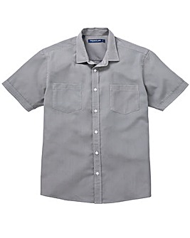 Premier Man Grey S/S Check Shirt R