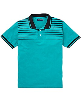 Premier Man Sea Green Stripe Polo R