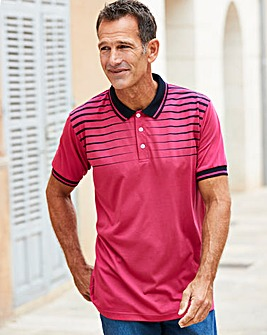 Premier Man Pink Chest Stripe Polo R