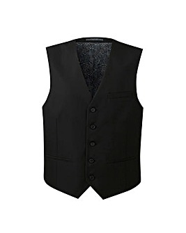 W&B London Black Slim Tonic Waistcoat