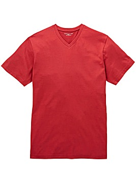 Capsule Burgundy V-Neck T-shirt L