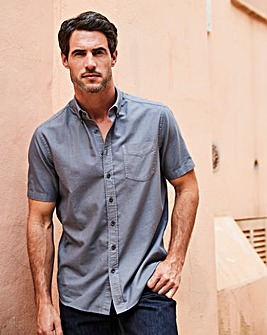 Capsule Charcoal S/S Oxford Shirt L