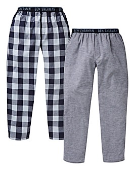 Ben Sherman Pack of 2 Woven Loungepants