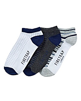 Firetrap Pack of 3 Trainer Socks