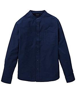 Capsule Navy L/S Grandad Oxford Shirt R