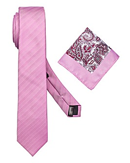 Capsule Pink Tie & Pocket Square