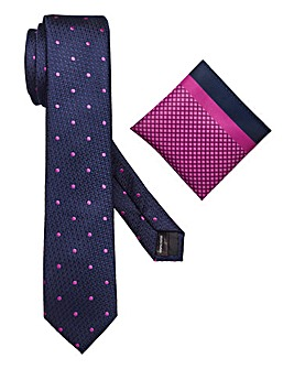 Capsule Navy Tie & Pocket Square