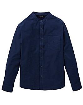 Capsule Navy L/S Grandad Oxford Shirt L