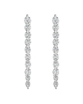 Jon Richard mini navette drop earring