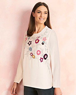 Embellished and Embroidered Top