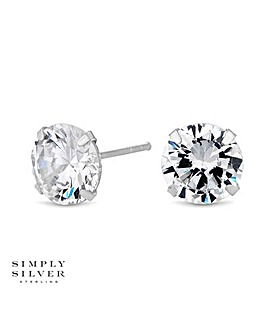 Simply Silver classic earring