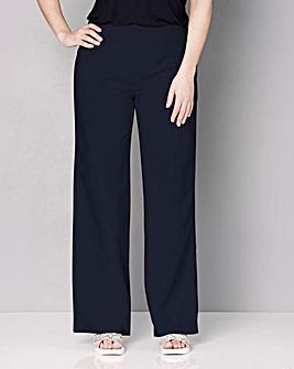 Slouch Linen Mix Wide Trousers Regular