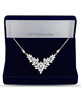 Jon Richard floral statement necklace