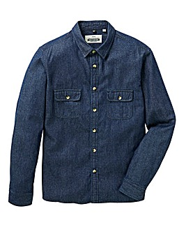 Jacamo L/S Denim Worker Shirt Regular
