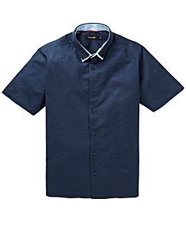 Black Label Linen Mix Trim Shirt