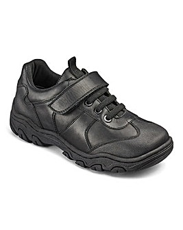 KD Boys Max Black School Shoes