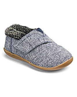 Toms Infant Chambray House Slippers