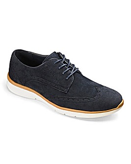Lace Up Brogue Trainer Standard Fit