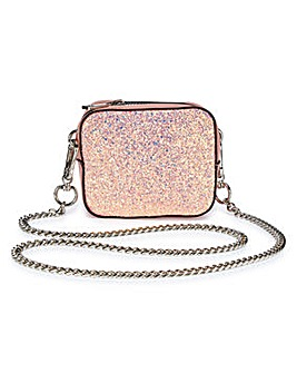 Trixie Pink Glitter Mini Shoulder Bag