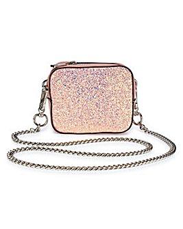 Trixie Pink Glitter Mini Camera Bag