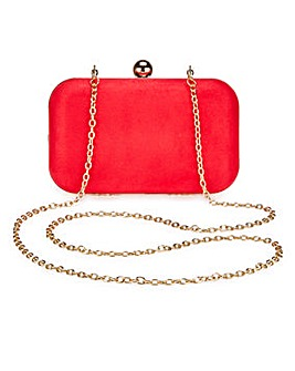 Alice Red Box Clutch Bag