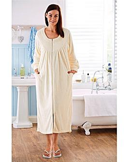 Super Soft Zip Up Gown