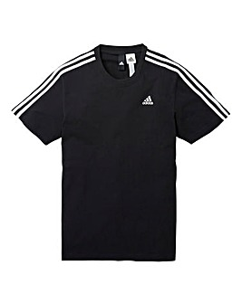 adidas Essentials 3 Stripe T-Shirt