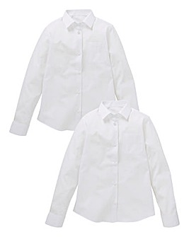Girls Pack of Two L/S School Shirts Gen