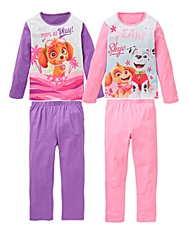 Paw Patrol Girls Pack of Two Pyjamas