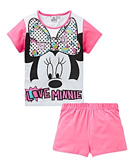 Minnie Mouse Girls Pyjama Short Set