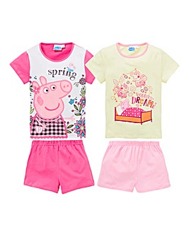 Peppa Pig Pck of Two PJ Shorts