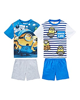 Minions Pack of Two Pyjama Shorts