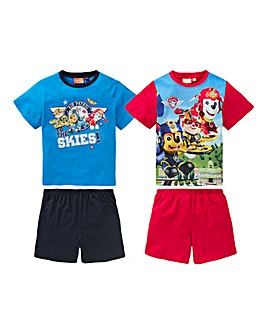 Paw Patrol Boys Pack of Two PJ Shorts