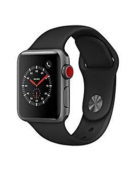 Apple Watch 3 38mm Black Sport Band