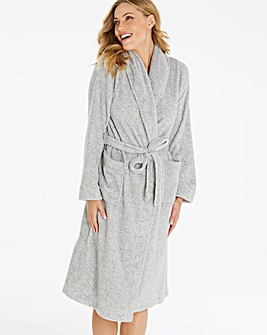Pretty Secrets Marl Soft Fleece Gown L42