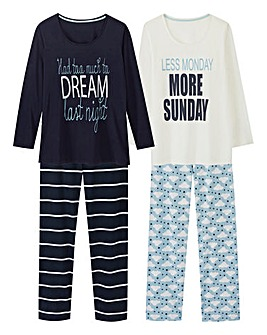Pretty Secrets 2 Pack L/S Pyjama Set
