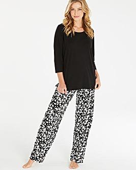 Pretty Secrets Black Floral Pyjama Set