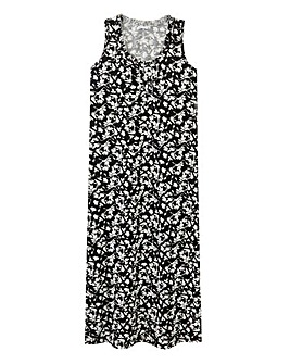Pretty Secrets Black Floral Maxi Nightie