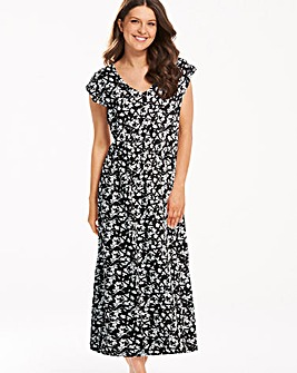 Pretty Secrets Black Floral Kaftan