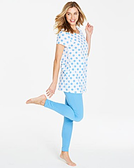 Pretty Secrets Blue Spot Legging Set