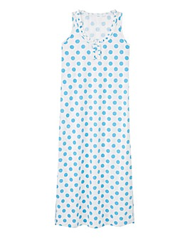 Pretty Secrets Blue Spot Maxi Nightie